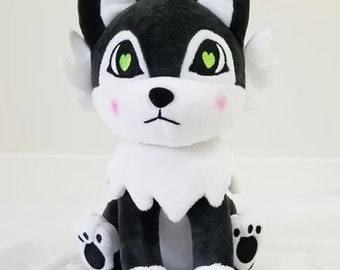 Husky Black Wolf Plush 189499ced