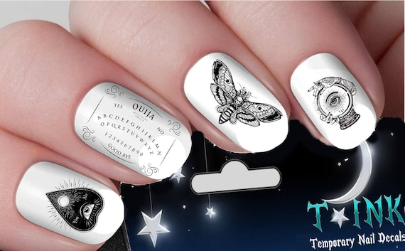 Ouija Board Occult Gothic Nail Art Wraps Water Transfers Nails Etsy