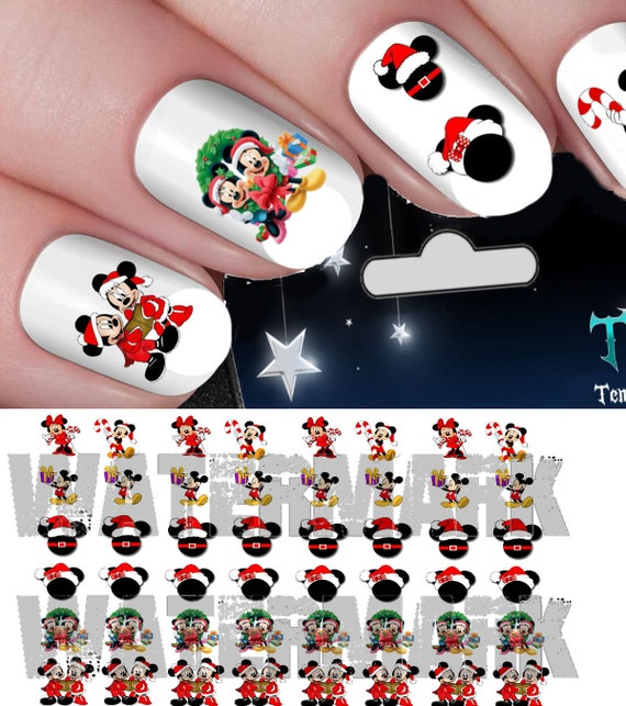 Disney Christmas Assortment Mickey Mouse Minnie Mouse Heads Etsy
