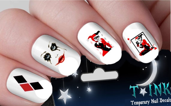 Suicide Squad Harley Quinn Set 1 With Wraps Nail Art Wraps Etsy
