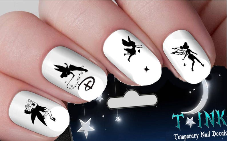 Disney Nail Decals Tinkerbell Fairy Silhouette Classic Castle  7a5e7b53d0dc
