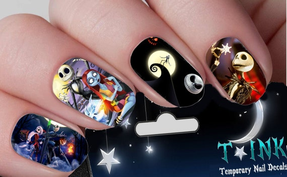 Jack Skellington Nightmare Before Christmas Nail Decals Nail Etsy