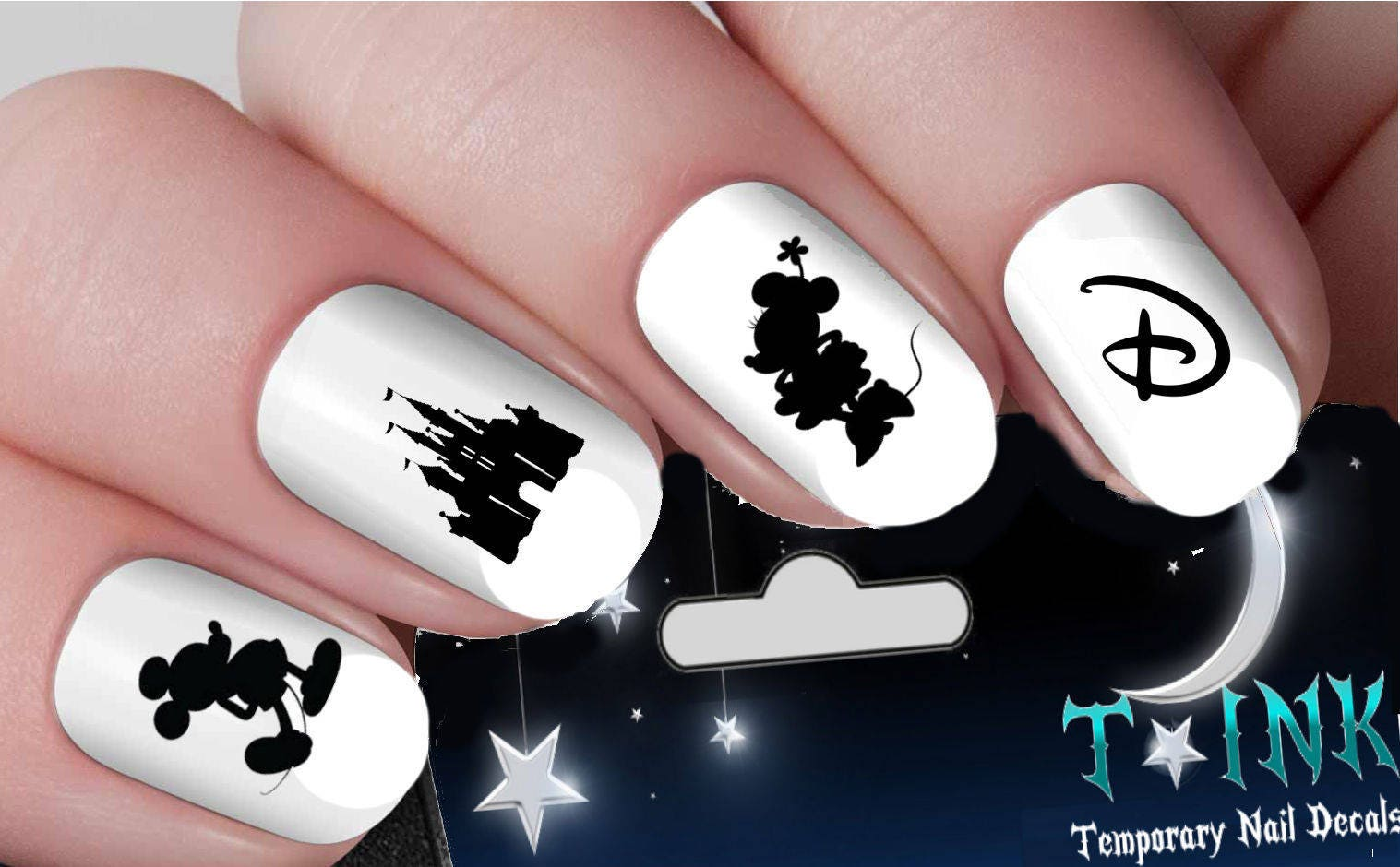 Disney Nail Decals Mickey Mouse Minnie Mouse Classic Castle Nail Art ...