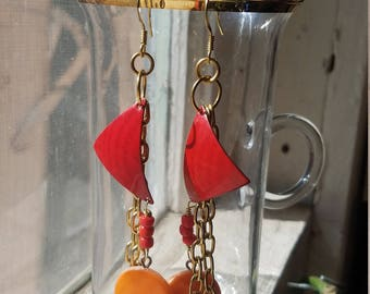Sailing at Sunset Earrings