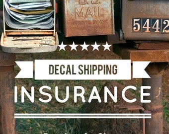 Decal Shipment Tracking - US only! - Please read description