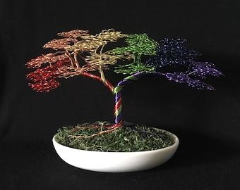 Wired Bonsai Rainbow Pride Tree
