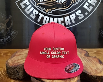 d7fe26f46c3 10 Custom Embroidered FLEXFIT PRO-BASEBALL on-field caps with your  personalized text or graphic!