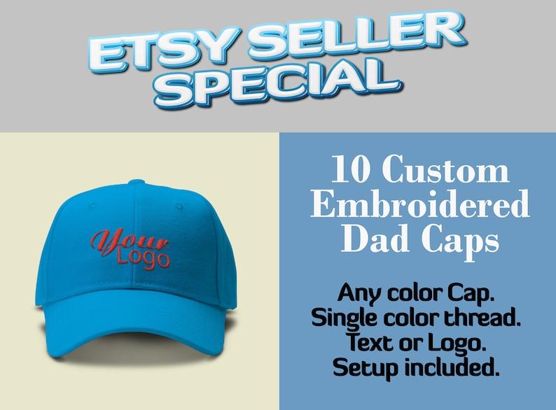 44407599f4ebd7 ETSY SELLER SPECIAL // 10 Custom Dad Caps // Wholesale Special | Etsy