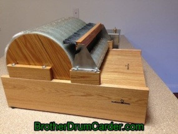 """Large /""""Big brother/"""" Motorized electric brother drum carder"""