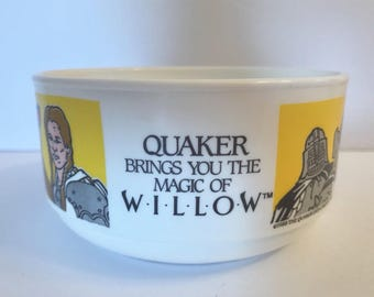 MAGIC OF WILLOW Plastic Bowl Quaker Oats Movie Film Whirley 1988 Dish Whirley