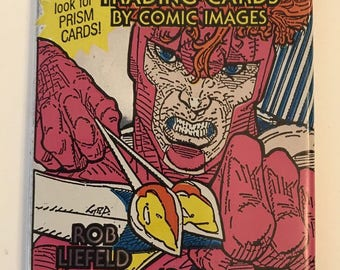 Vtg Pack YOUNGBLOOD Trading Cards Comic Images Rob Liefeld Art Collector Book