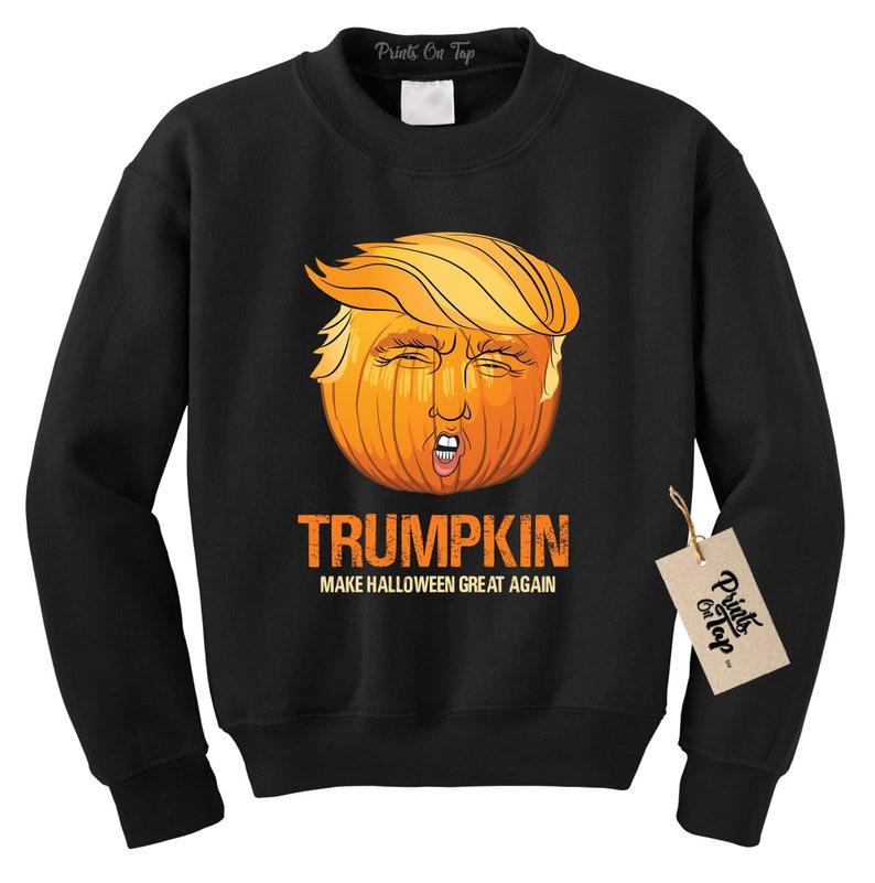 1bce83a99fa Trumpkin Crew Neck SWEATSHIRT Funny Halloween Shirt Donald