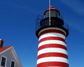 West Quoddy Light, Lighthouse, Maine, Wall Art