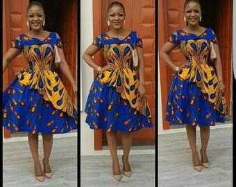 c4bf58bb184 african knee length dress