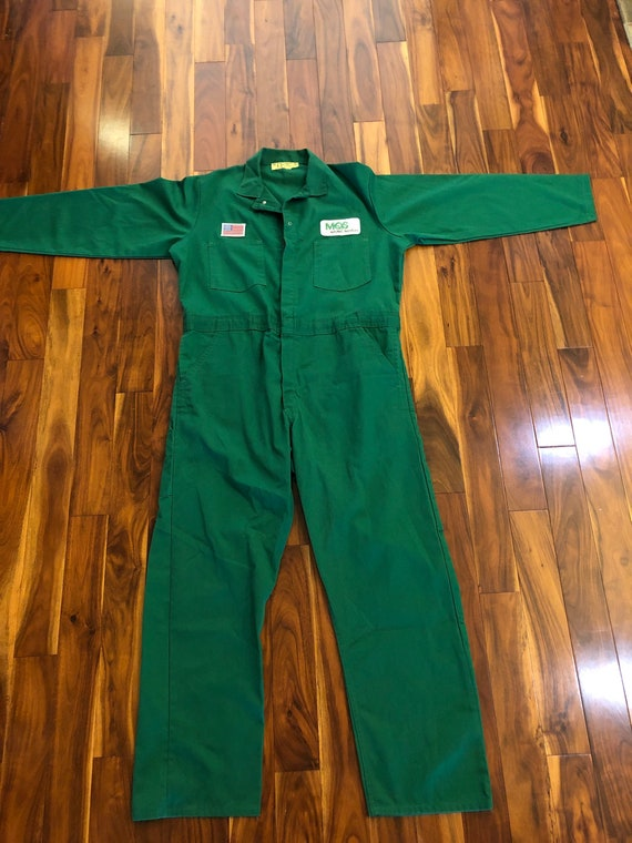 Vintage Universal Overall Kelly Green Coverall Men