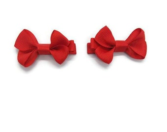 Red Little Girls Bows