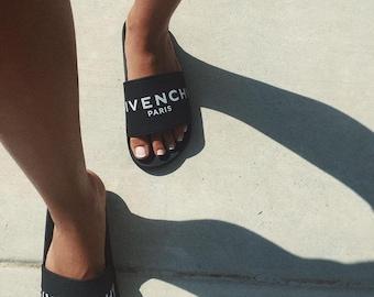 Givenchy Inspired Designer Slides Slip On Mules Sandal Shoes