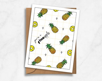 "You're a ""fineapple"" – Love, Valentines, Anniversary Card"