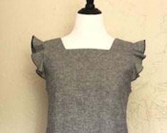 Hemp and Organic Cotton Grey/Blue Dress