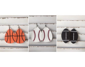 Heart/Circle Sports Earrings