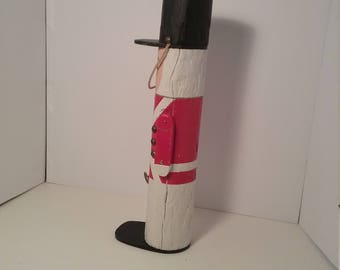 Hand crafted wooden soldier.  Christmas, Childs room, add to Christmas decore