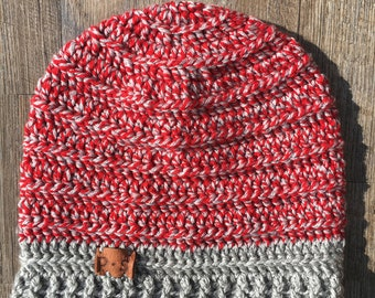 The Laidback Red Slouch | Crochet Slouch Hat | Handmade Hat