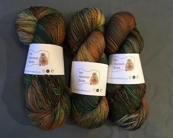 hand dyed sock - Mayan