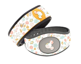 Dainty Flowers Disney Magic Band Decal - Cute Floral Flower Garden- RTS Ready To Ship - Magic Band 1.0 or 2.0 Skin