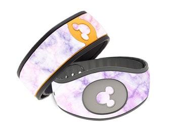 Watercolor Purple Marble Disney Magic Band Decal - Cute Purple Marble MagicBand Decal - RTS Ready To Ship - Magic Band 1.0 or 2.0 Skin
