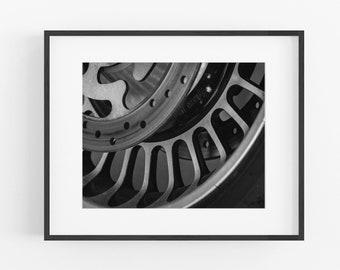 Motorcycle Wheel Photograph