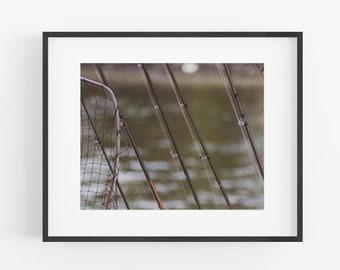 Fishing Pole Photograph, Fisherman Wall Art