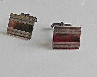 Cufflinks Cufflinks 830 silver vintage Mens Noble MS133