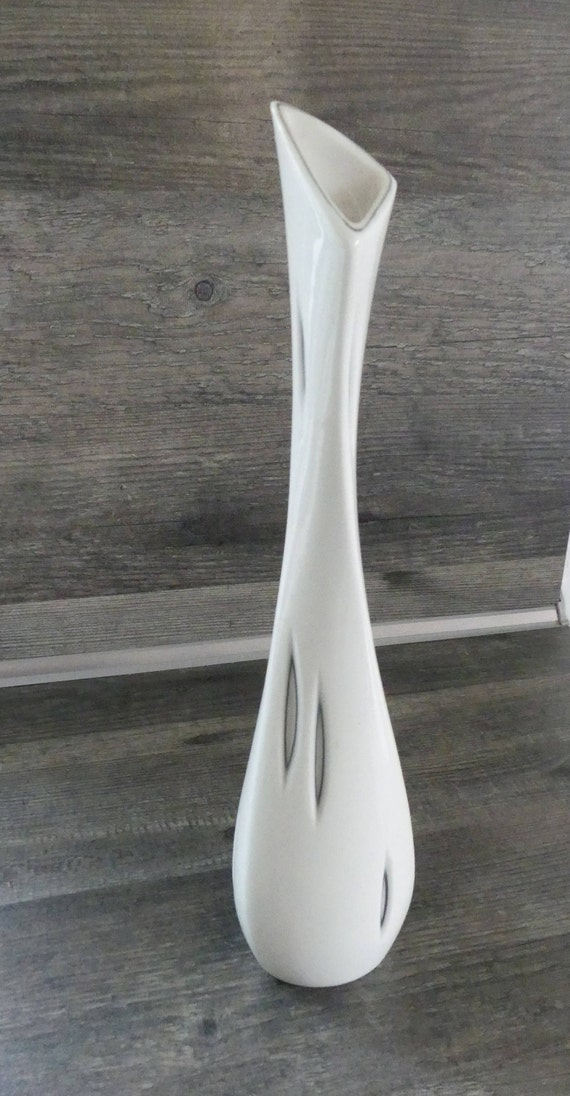 Sgrafo Modern 50s Designer Vase Op Art Peter Mller Etsy