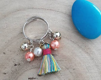 Ring beads and tassels
