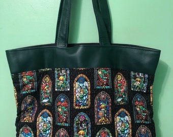 Legend of Zelda Stained Glass Tote Bag
