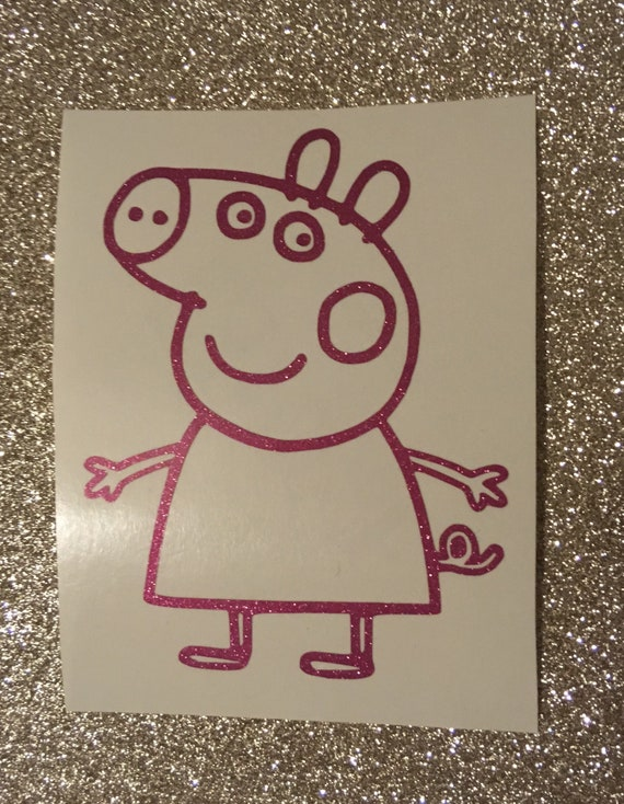 Peppa Pig with Name Wall Sticker Wall Chick Decal Art Sticker Quote