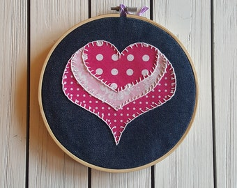 Heart Applique Embroidery