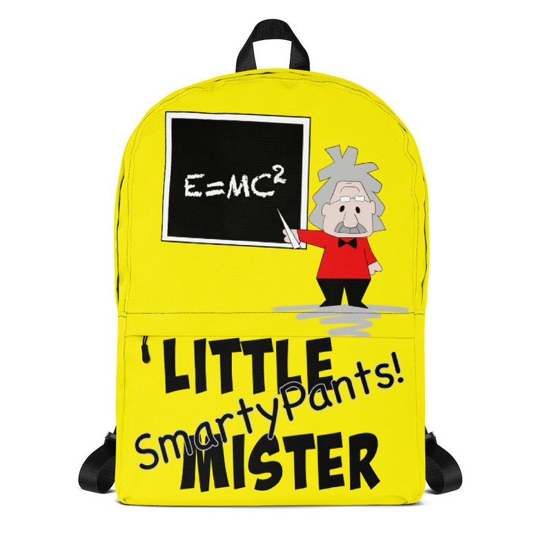 6ccd2803d817 Back to School Gift, Albert Einstein Backpack, Gift for Smarty Pants, Boys  School Backpack, First Day of School, Science Lover, Kids Bag
