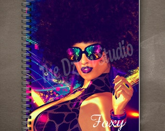 Foxy Cleopatra Journal | Wire Bound | spiral journal | writing journal | custom journal | school supplies | gift for book lovers | diary