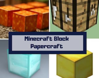 image about Minecraft Blocks Printable titled Minecraft sale Etsy