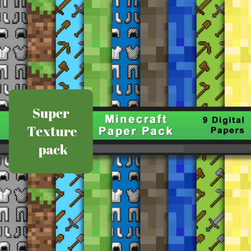 photograph about Minecraft Printable Paper called Multi Texture Minecraft Printable Electronic Papers 300DPI 9 Coloration canine electronic sbook products, Pixel Craft electronic paper, coloured mosaic