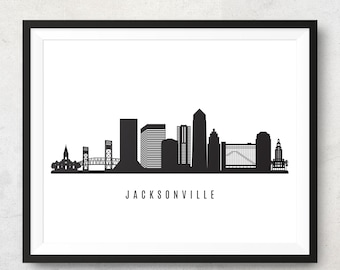 Savannah Skyline Printable Savannah Georgia Black White Wall Art Etsy