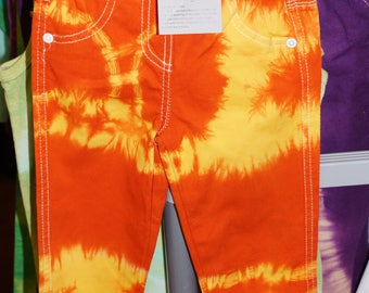 tie dye trousers orange and yellow age 2-3 years