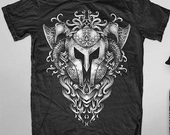 a5da7620fd7c9 Vintage rock metal biker retro viking god strong t-shirt top men women  unisex uk