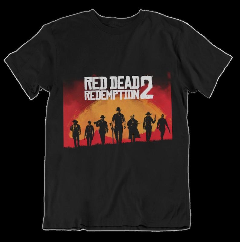 e845dcc52eb Unisex Red dead Redemption 2 T-shirt Rockstar Game Gift Men