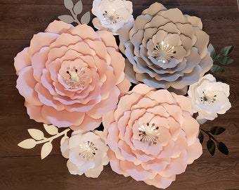 Paper Wall Flowers Etsy