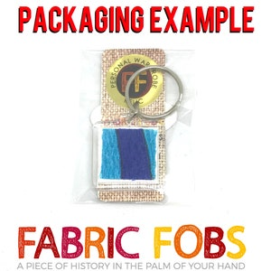 Spartacus Some Like It Hot Tony Curtis Personal Wardrobe Relic Keychain The Persuaders Fabric Fobs Worn by Curtis!