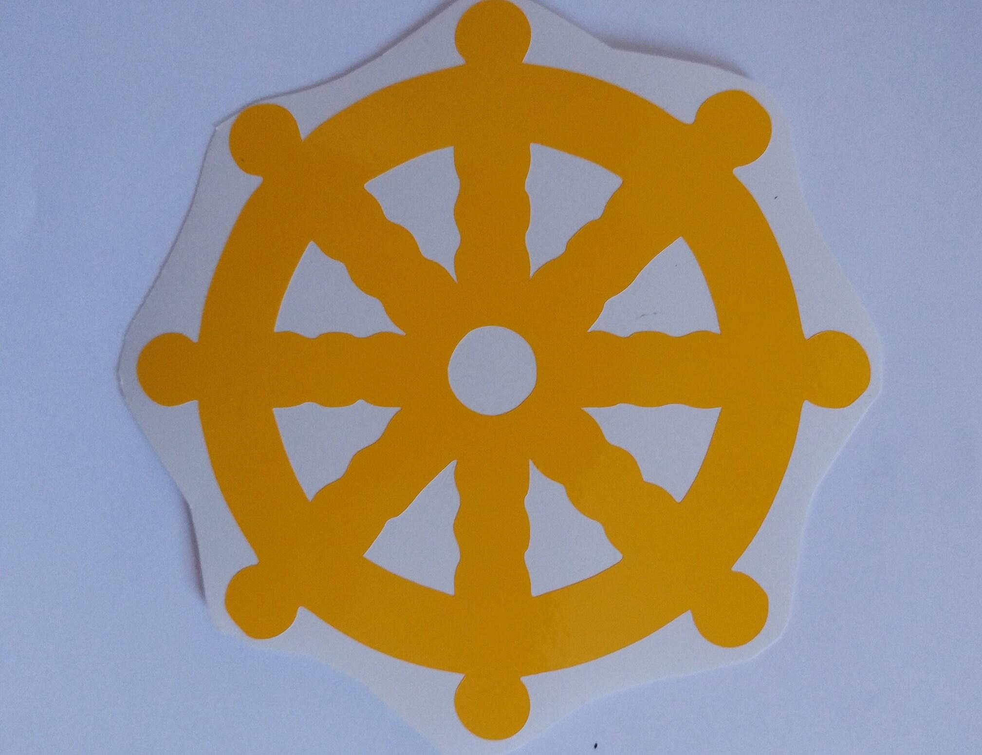 Dharma Wheel Dharmachakra Ashtamangala Jainism Etsy