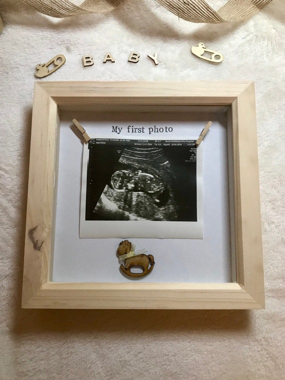 Baby Scan Photo Frame First Scan Scan Frame Pine Wood Etsy