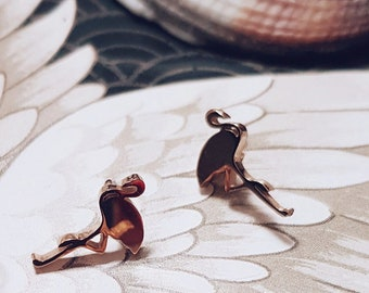 Flamingo Earring Gold